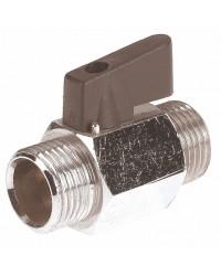 "Brass ball valve - M / M - ""Mini series"" - Butterfly handle"