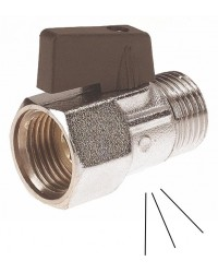 """Brass ball valve - Pressure-release - M / F - """" Mini series""""- Butterfly handle"""