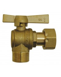 Vanne à sphère laiton M / EP - Equerre - Pour compteur d'eau