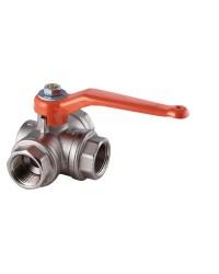 3 ways ball valve - Female / Horizontal - T ways