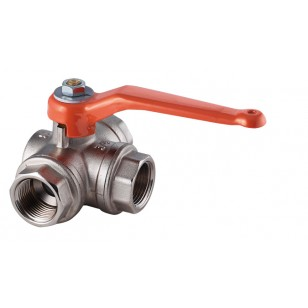 3 ways ball valve - Female / Horizontal - T ways