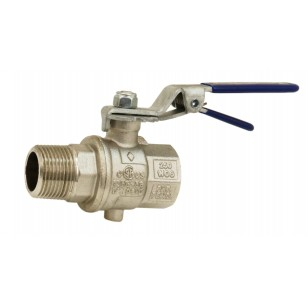 Butterfly valve - M / F - Notched handle