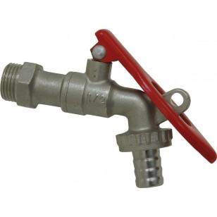 Ball bibcock - Nickeled - Lockable handle