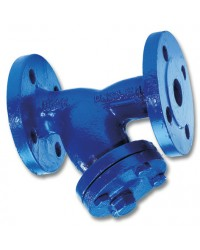 "Flanged cast iron strainer - ""Y"" type - With drain plug"