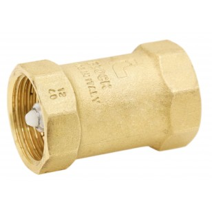 "Brass multi positions check valve - ""Industrial series""- BLOCK ® - Polymere lift type check valve"