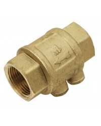 "Brass multi positions check valve - ""Industrial series"" - ROMA ® - Stainless steel lift type check valve - Double purge"