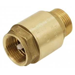 "Brass multi positions check valve - ""Industrial series"" - Female / Male - Nylon lift type check valve"