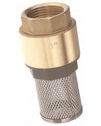 Clapet crépine monobloc - Série Etoile - Obturateur nylon revêtu NBR - Crépine inox