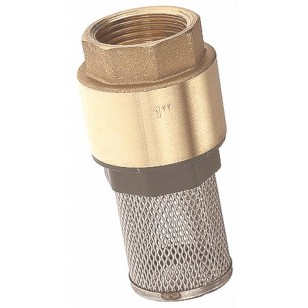 "Monobloc foot valve - ''Etoile series"" - Nylon obturator NBR coating - Stainless steel strainer"