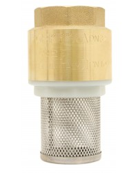 "Monobloc foot valve - ""Industrial series"" - YORK ® - Nylon lift type check valve - Stainless steel strainer"