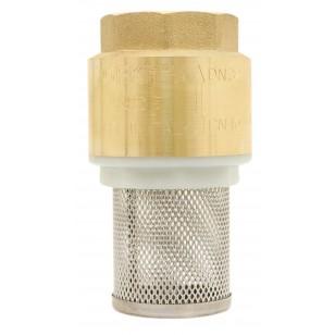 Clapet crépine monobloc - Série industrie - YORK ® - Obturateur nylon - Crépine inox