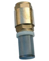 Clapet crépine monobloc - Série industrie - EUROPA ® - Obturateur inox - Crépine inox