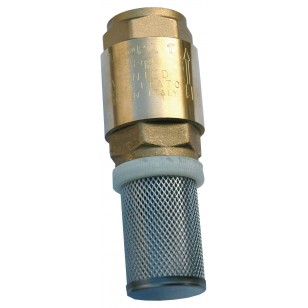 "Monobloc foot valve - ""Industrial series"" - EUROPA ® - Stainless steel lift type check valve - Stainless steel strainer"