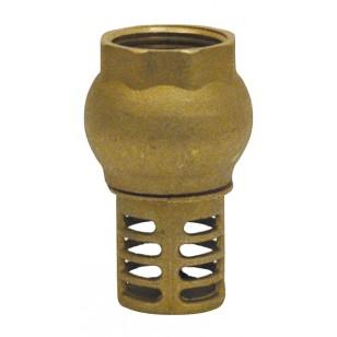 "Vertical foot valve - ''Etoile series"" - Brass check valve NBR coating"