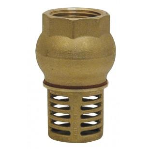 Clapet crépine à levée verticale - Série industrie - Clapet laiton revêtu NBR