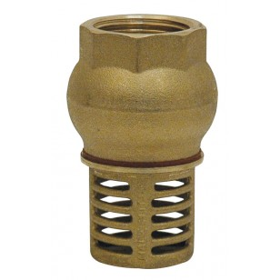 "Vertical foot valve - ""Industrial series"" - Brass check valve NBR coating"