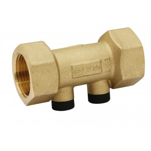 Pollution-control check valve EA type - Straight body - With 2 plastic plug - F x F