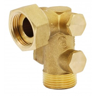 Pollution-control check valve EA type - Angle body - With 4 plugs - Ep x M