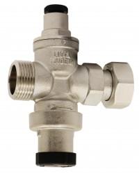 Réducteur de pression à piston en laiton matricé - Mâle / Femelle - Laiton nickelé