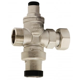 Pressure reducing valve - Brass hot forged piston type - Male / Female - Nickeled brass