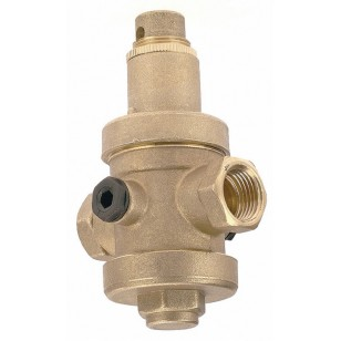 "Pressure reducing valve - Brass hot forged piston type - Female / Female - ""Industrial series"""