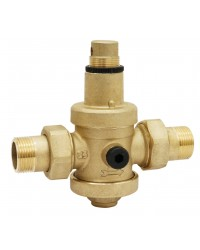 "Pressure reducing valve - Brass hot forged piston type - 2 union male fittings - ""Industrial series"""