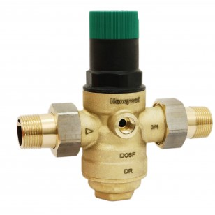 Pressure regulating valve with diaphragm - 2 male union fittings - For water network
