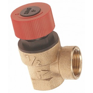 Not adjustables brass safety relief valve - Female/Female - Without pressure gauge connection
