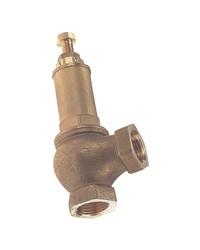 Canalized brass safety relief valve - CE - PTFE valve