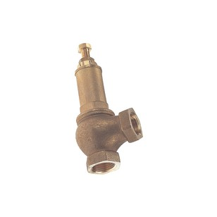 Canalized brass safety relief valve - CE - PTFE valve